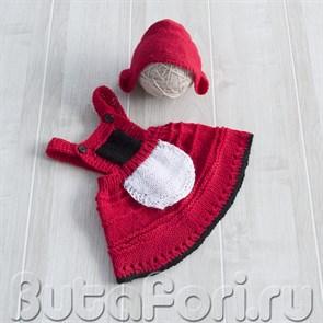 Вязаный костюмчик Красной Шапочки