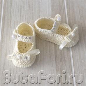 Нежные пинетки для фотосессии новорожденных