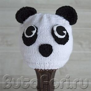 Вязаная шапочка Панда