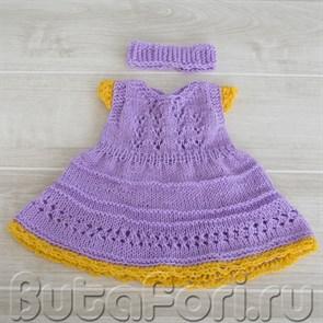 Платье Рапунцель для новорожденной девочки