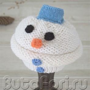 Шапочка Снеговика для новорожденного