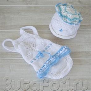 Костюмчик Снежинки для новорожденной девочки