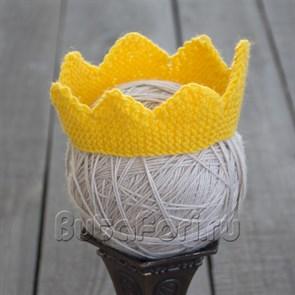 Золотая корона для фотосессии новорожденного