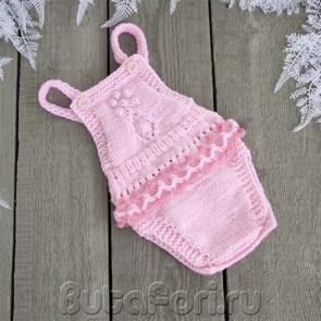 Розовый ромпер для девочек - Нюша