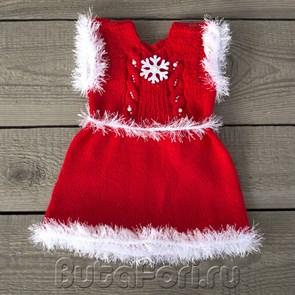 Новогоднее платье для фотосессии новорожденной
