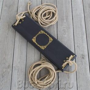 Качели черные с позолотой для фотосессии