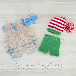 Набор для фотосессии новорожденных - Буратино и Мальвина