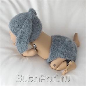 Костюмчик Серенького зайчика для фотосессии новорожденного