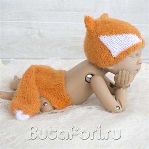 Одежда для фотосессии новорожденного Рыженькая Лисичка