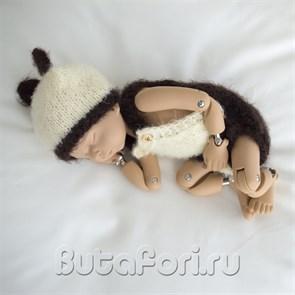 Вязаный костюмчик опоссума для новорожденного