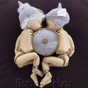 Комплект шлемов для фотосессии близнецов