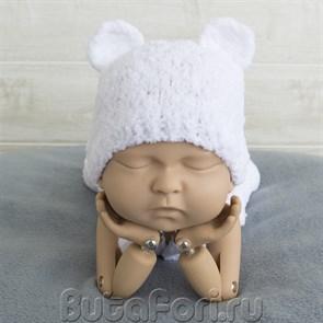 Вязаная шапочка для фотосессии новорожденного - Мишка на Севере