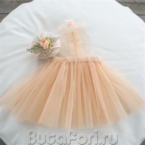 Персиковый комплект для фотосессии девочки