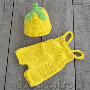 Желтый костюм для фотосессии новорожденного