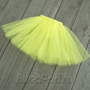 Желто-зеленая юбочка из фатина