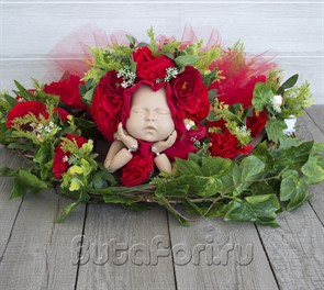 Яркий набор для фотосессии новорожденной