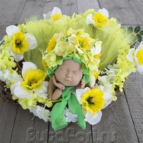 Весенний набор для фотосессии новорожденной