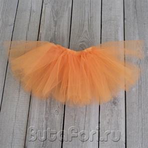 Оранжевая юбочка из фатина