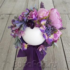 Цветочная шапочка Акварель