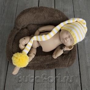 Желтый длинный колпак для новорожденного