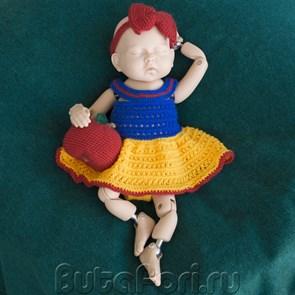 Платье Белоснежки для фотосессии новорожденной