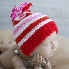 Шапочка для фотосессии новорожденных Карамелька
