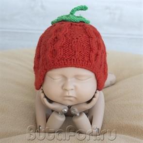 Шапочка для фотосессии Красная ягодка