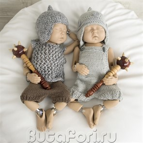 Вязаный набор для фотосессии новорожденных Богатырей
