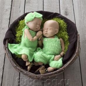 Комплект одежды для фотосессии близнецов