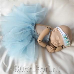 Голубое платье и повязочка для фотосессии