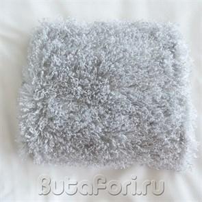 Мохнатый серый коврик для фотосессии новорожденных