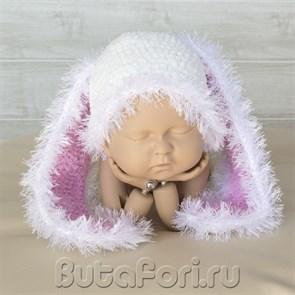 Вязаная шапочка Кролик Большие ушки