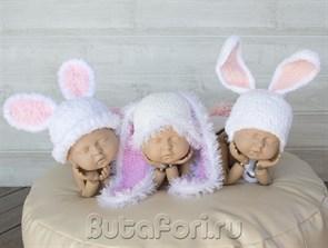 Костюмчики кроликов для фотосессии тройняшек
