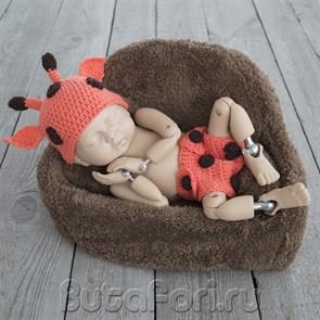Вязаный костюмчик Жирафика для фотосессии новорожденных