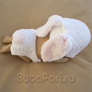 Вязаный костюмчик кролик Пушок