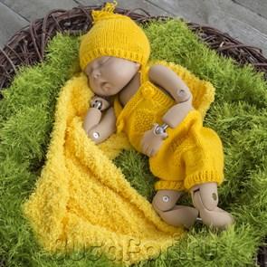 Желтый комплект для фотосессии новорожденных