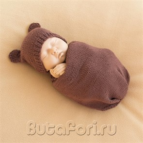 Аксессуары для фотосессии новорожденных - костюмчик Мишки