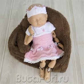 Розовый наряд принцессы для новорожденной