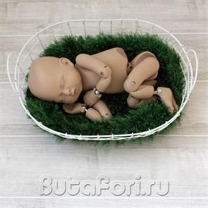 Металлическая корзиночка для фотосессии новорожденного