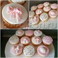свадебные капкейки розовые