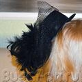 шляпка женская черная