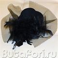 шляпка концертная черная